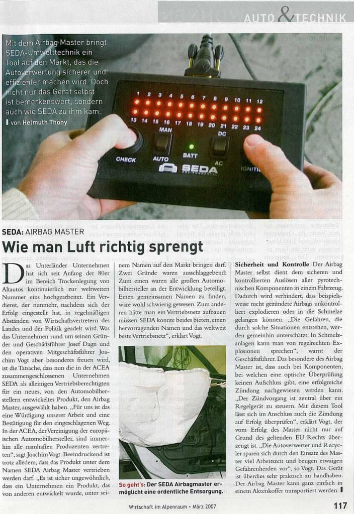 presse 2007 03 wia AT min - Wirtschaft im Alpenraum März 2007
