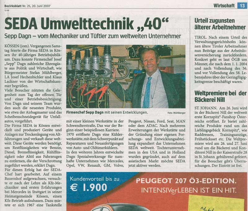 presse 2007 06 Bezirksblatt AT min - Bezirksblatt Juni 2007