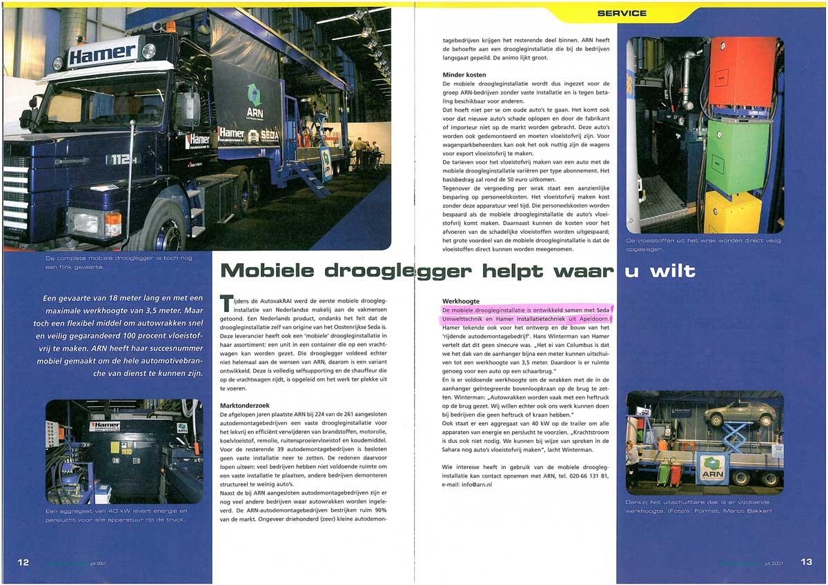 Autorecycling Nieuws July 2007