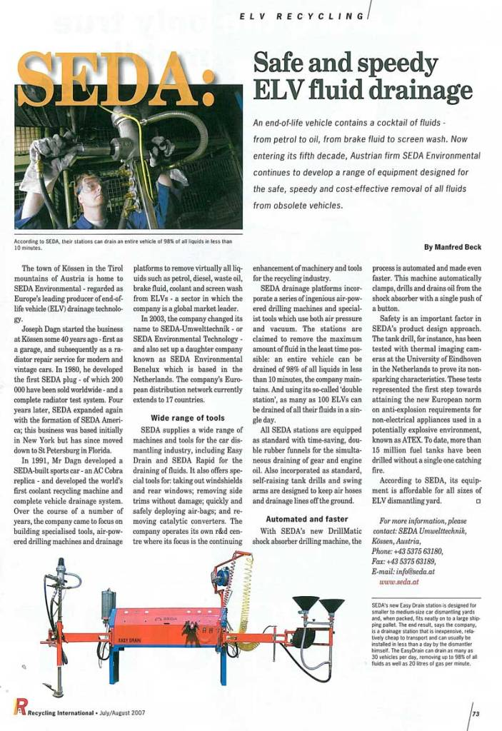 presse 2007 07 RecyclingInternational EU min - Recycling International July 2007