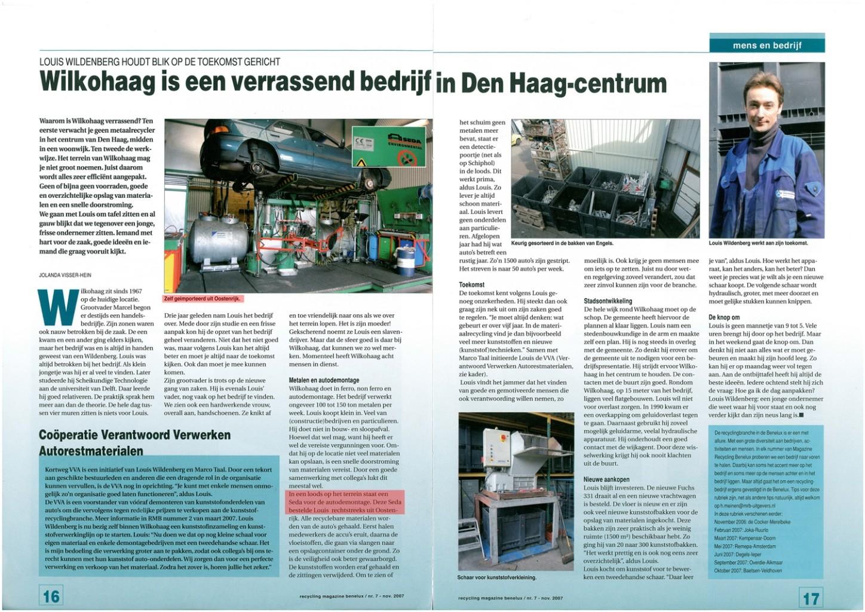 Recycling Magazine Benelux November 2007