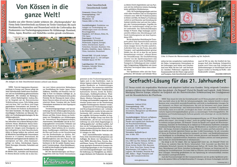 presse 2010 01 Verkehrszeitung AT min - Verkehrszeitung January 2010
