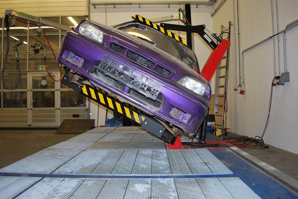 Rotated car