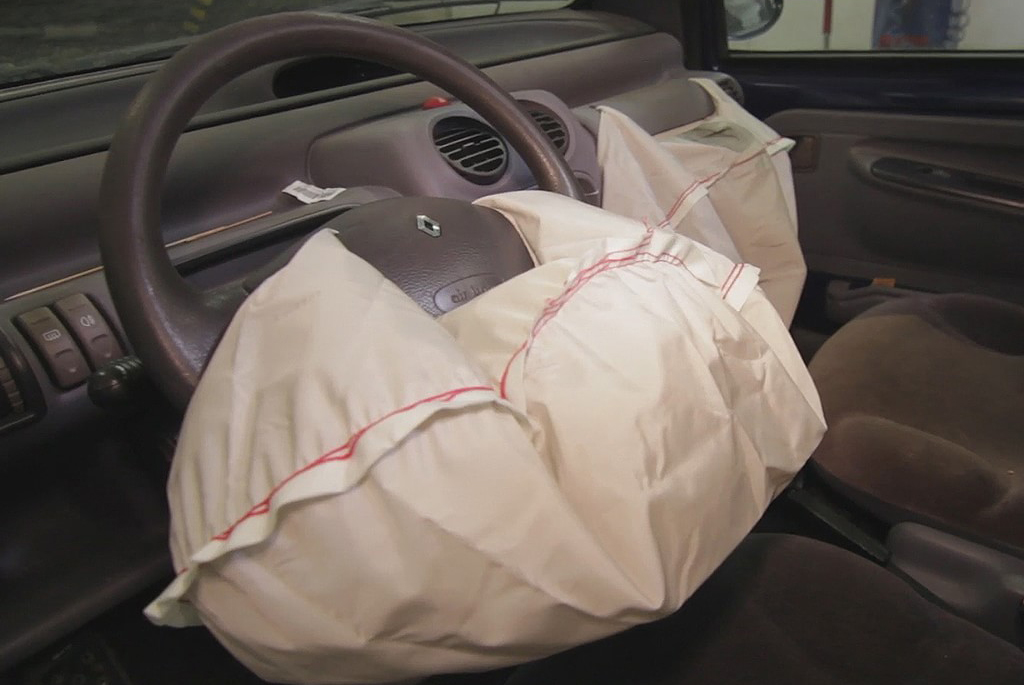 Deployed airbags