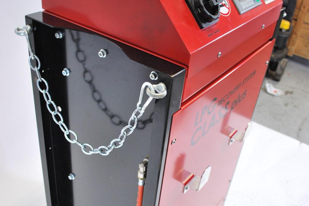 Sicherheitskette für Stickstoff-Flasche