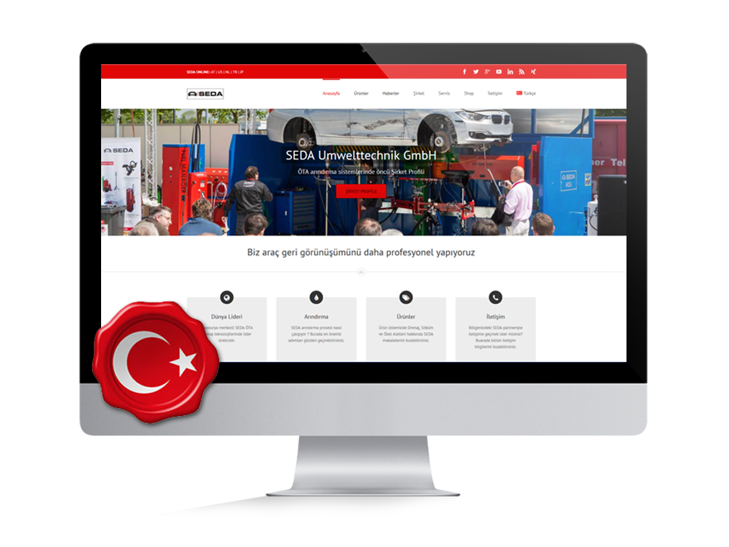 turkey website screen - Turkish website online