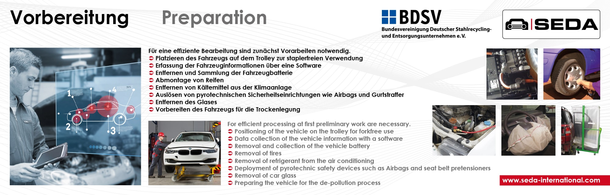 IFAT2016 Station 2 Vorbereitung min - SEDA presented car recycling LIVE at IFAT 2016
