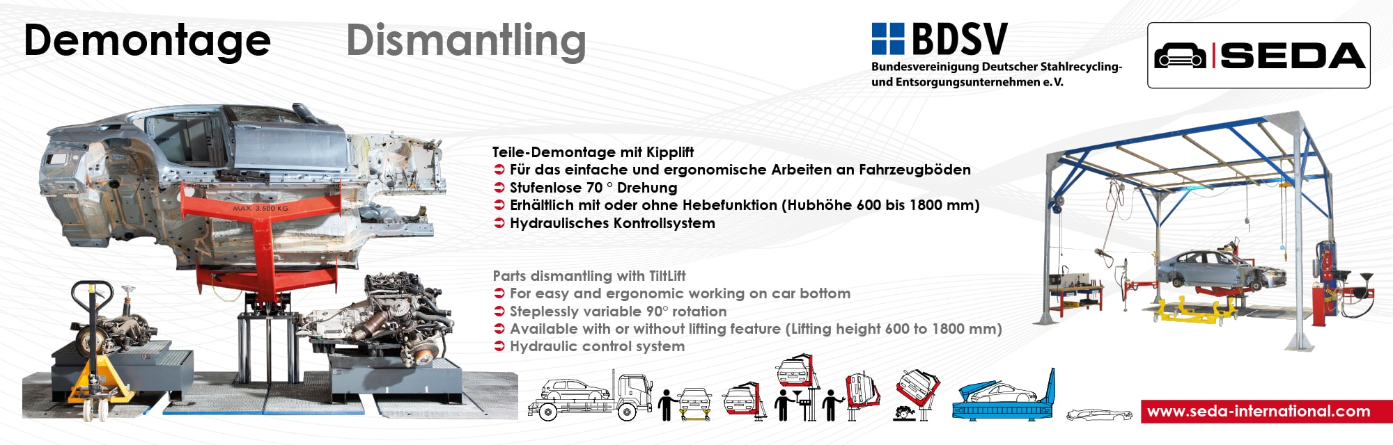 IFAT2016 Station 4 Demontage min - SEDA presented car recycling LIVE at IFAT 2016