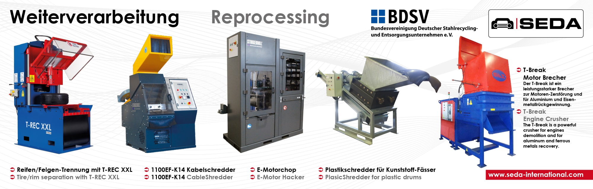 IFAT2016 Station 5 Weiterverarbeitung min - SEDA presented car recycling LIVE at IFAT 2016