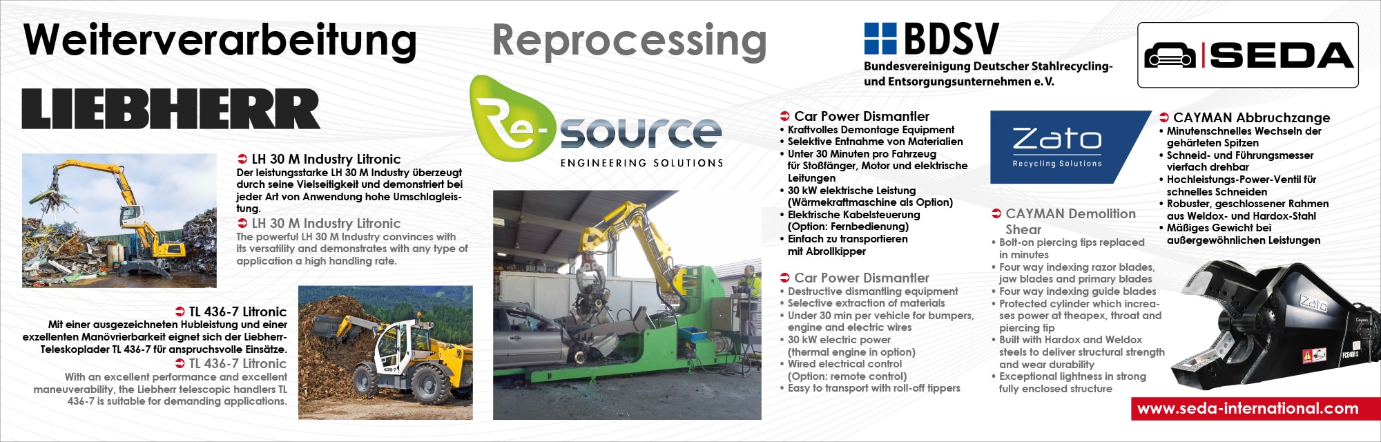 IFAT2016 Station 6 Weiterverarbeitung2 min - SEDA presented car recycling LIVE at IFAT 2016