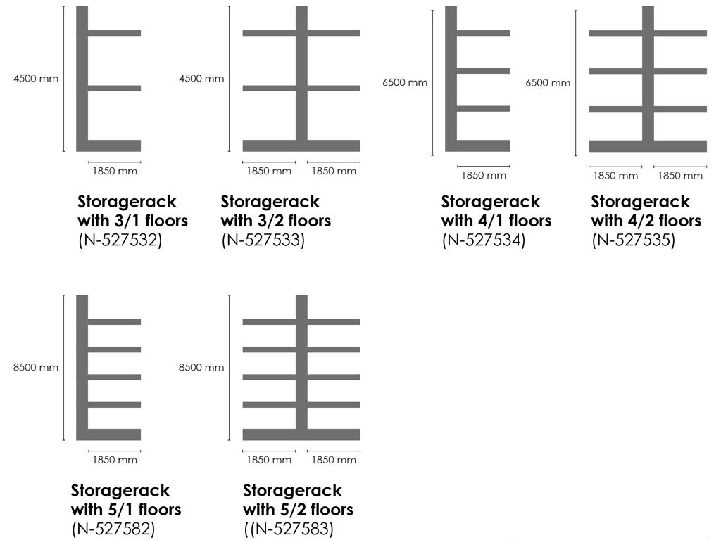 regale schemata EN - SEDA StorageRack