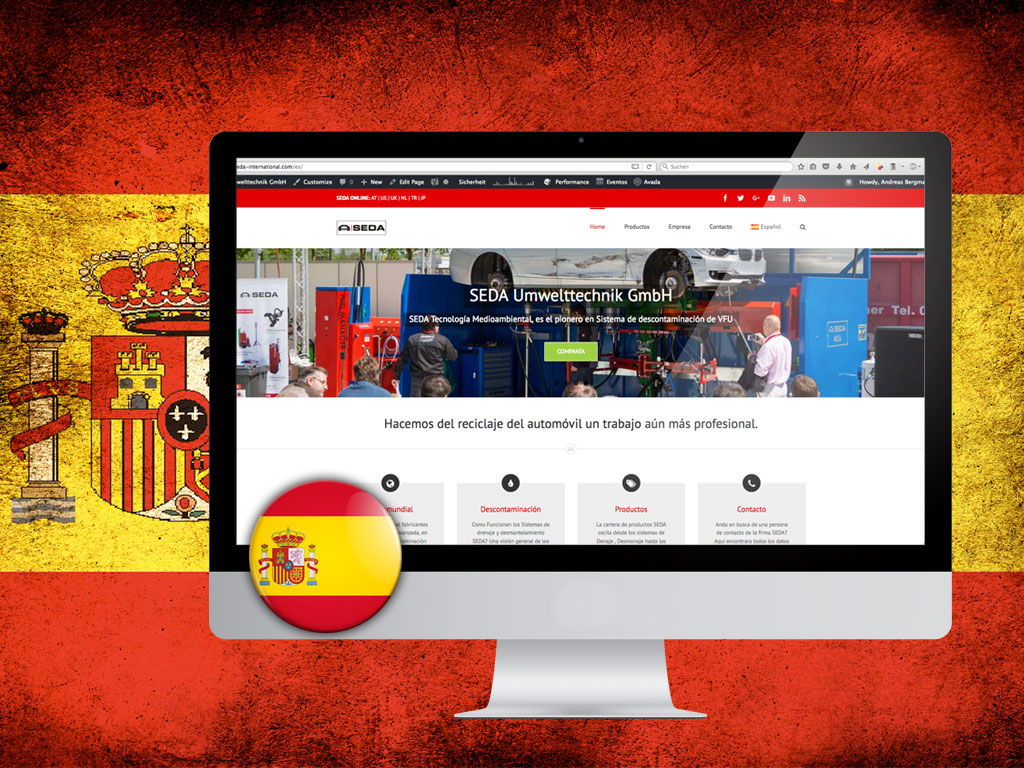 SEDA website available in Spanish