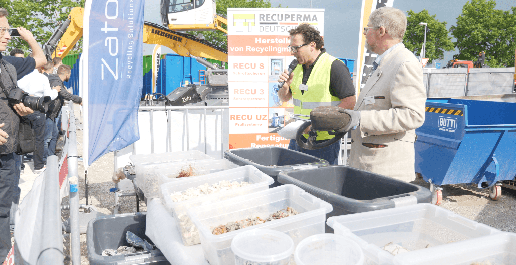 ifat18 weiterverarbeitung 12 min - SEDA presented car recycling LIVE at IFAT 2018