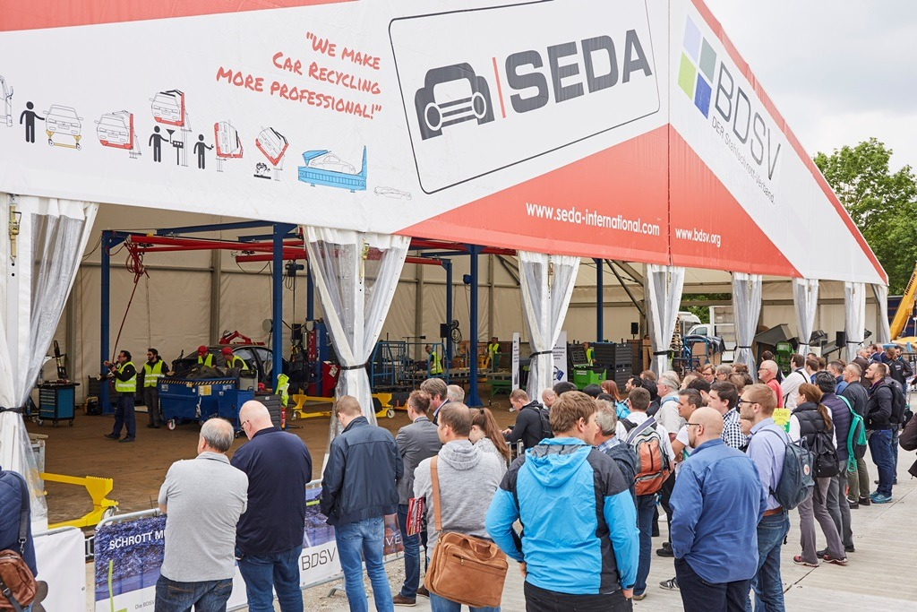 SEDA presented car recycling LIVE at IFAT 2018